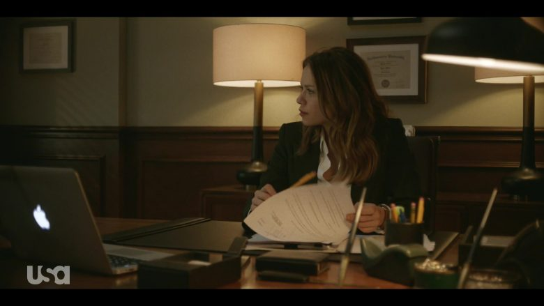 Apple MacBook Pro Laptop Used by Bethany Joy Lenz in Pearson - Season 1, Episode 3, The Union Leader (2019) - TV Show Product Placement