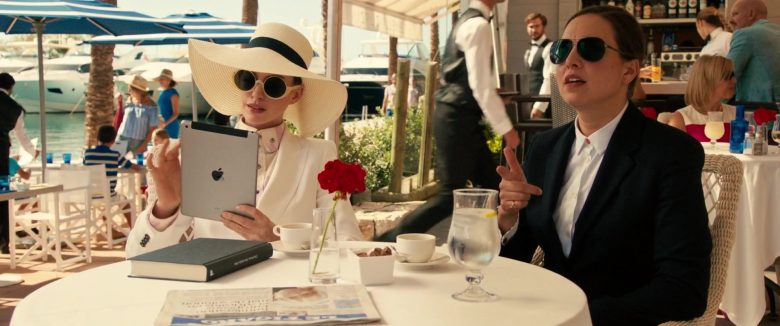 Apple iPad Tablet Held by Anne Hathaway in The Hustle (2019) - Movie Product Placement