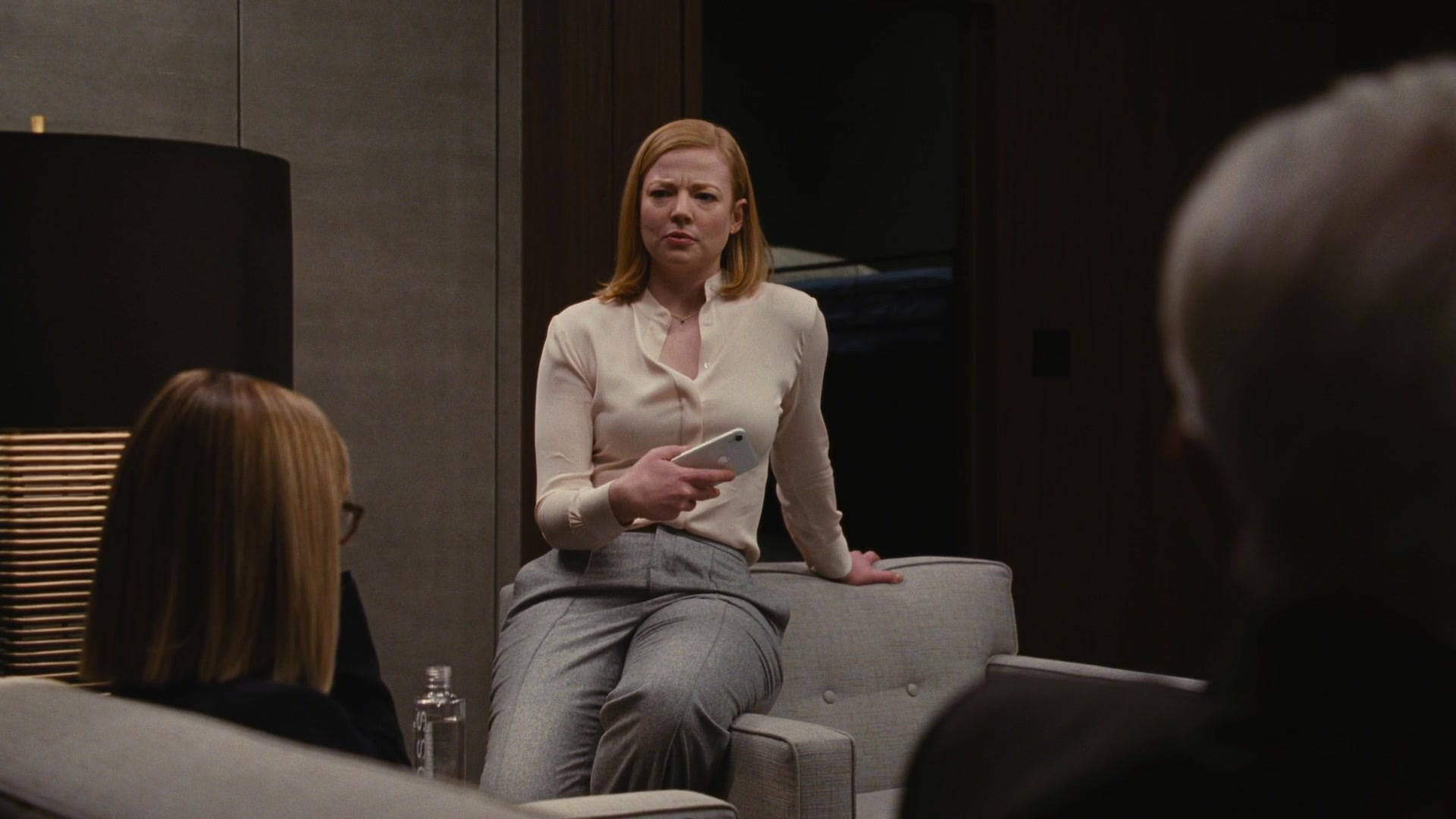 Apple iPhone Mobile Phone Used by Sarah Snook in Succession