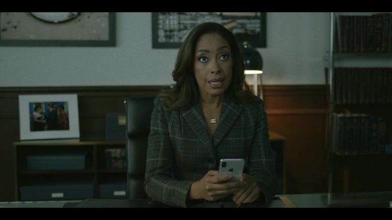 Apple iPhone Smartphone Held by Gina Torres in Pearson - Season 1, Episode 7, The Immigration Lawyer (2019) - TV Show Product Placement