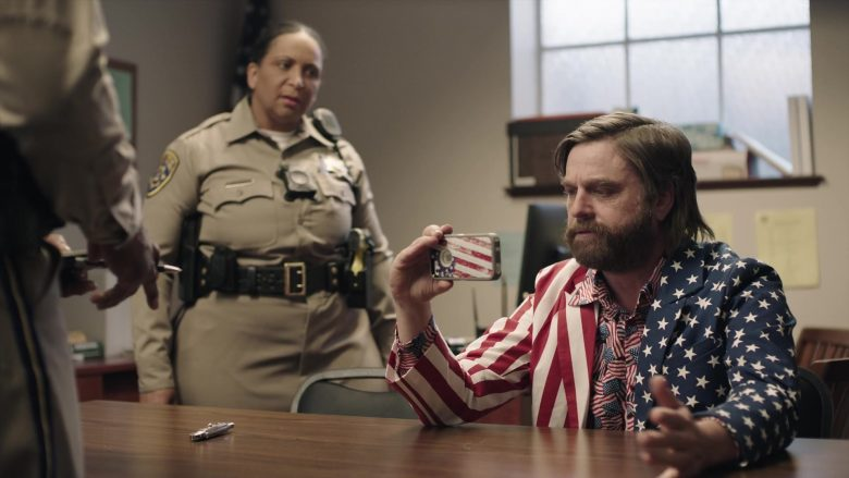 "Apple iPhone Smartphone Used by Zach Galifianakis in Baskets - Season 4, Episode 9, ""Mrs. Baskets Goes to Sacramento"" (2019) - TV Show Product Placement"