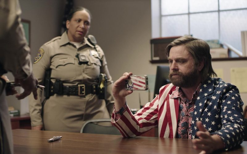 Apple iPhone Smartphone Used by Zach Galifianakis in Baskets