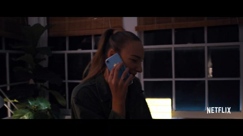 Apple iPhone XR Blue Smartphone Used by Used by Ava Michelle in Tall Girl (2019) - Movie Product Placement