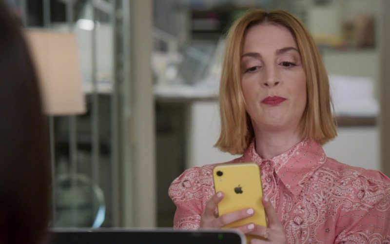 Apple iPhone XR Yellow Mobile Phone Used by Molly Kate Bernard in Younger (1)