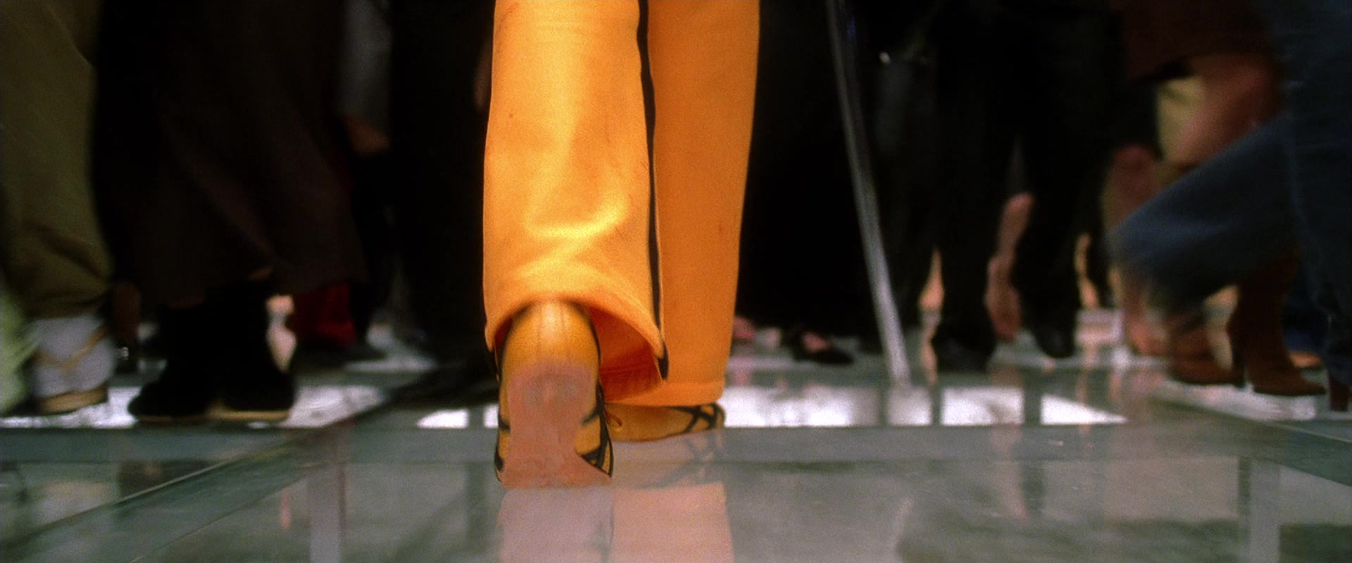 Asics Yellow Shoes Worn by Uma Thurman as The Bride in Kill