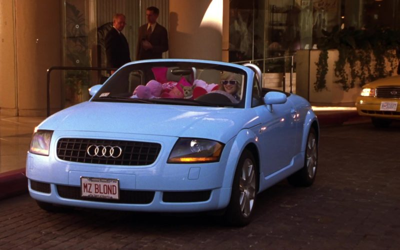 Audi TT Roadster Blue Convertible Car Used by Reese Witherspoon as Elle Woods in Legally Blonde 2 (9)