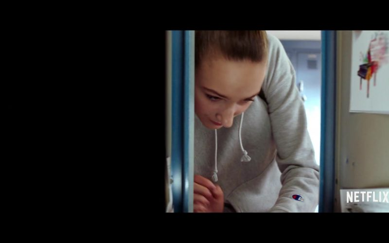 Champion Grey Hoodie Worn by Ava Michelle in Tall Girl (1)
