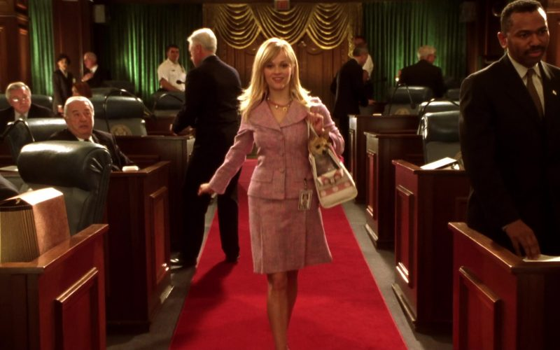 Chanel Pink Skirt and Jacket Suit Worn by Reese Witherspoon as Elle Woods in Legally Blonde 2 (2)