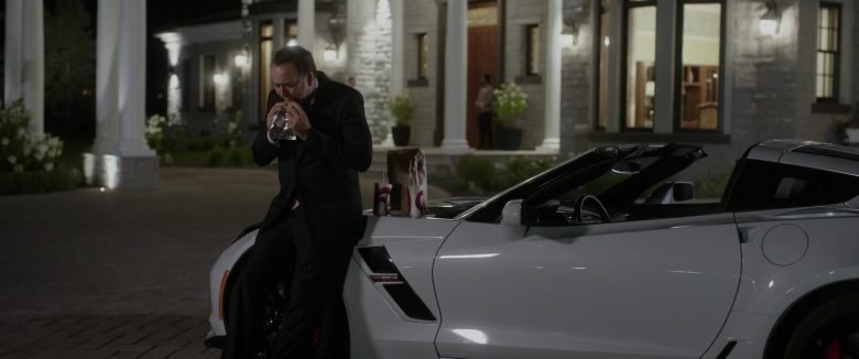 Chevrolet Corvette Convertible White Car Used by Nicolas Cage in A Score to Settle (2019) - Movie Product Placement
