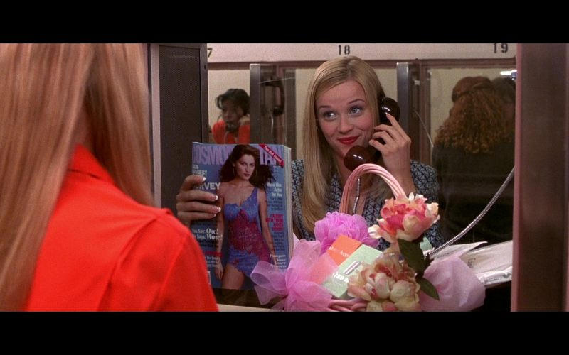 Cosmopolitan Magazine Held by Reese Witherspoon as Elle Woods in Legally Blonde