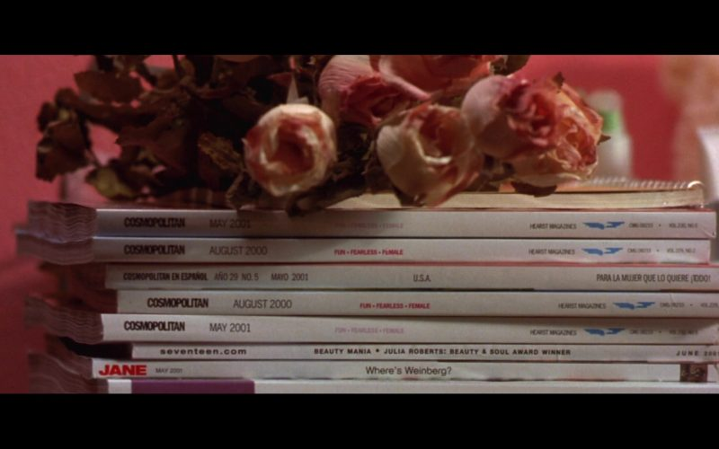Cosmopolitan, Seventeen and Jane Magazines in Legally Blonde