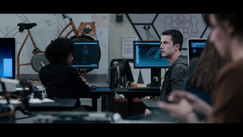 "Dell Computer Monitor Used by Dylan Minnette in 13 Reasons Why - Season 3, Episode 4, ""Angry, Young and Man"" (2019) TV Show"