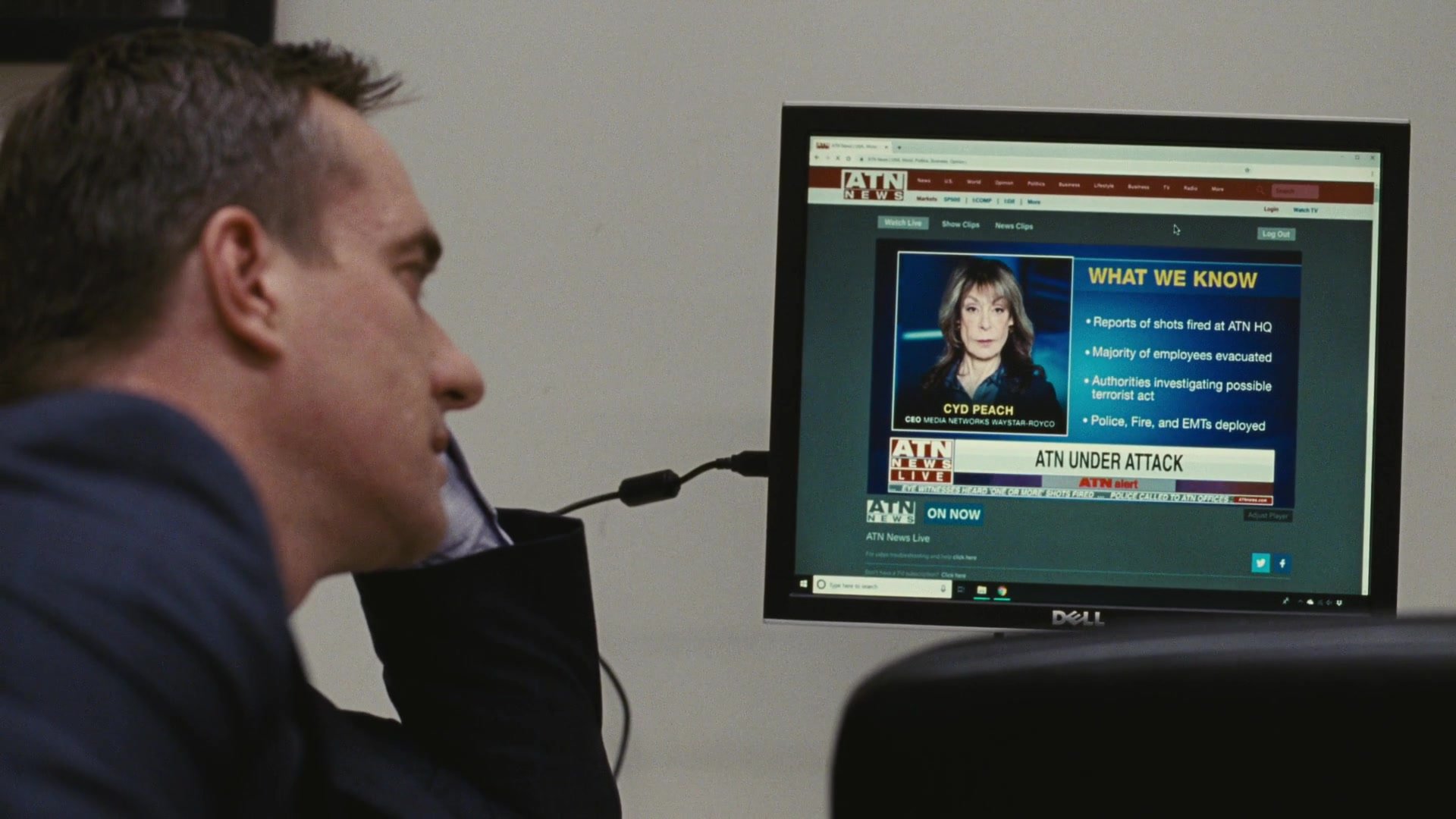 Dell Computer Monitor in Succession - Season 2, Episode 4