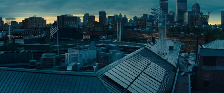Fanatics, Bank Of America, New Balance, Dunkin' Donuts, Ford and Budweiser Signs in Godzilla: King of the Monsters (2019) - Movie Product Placement
