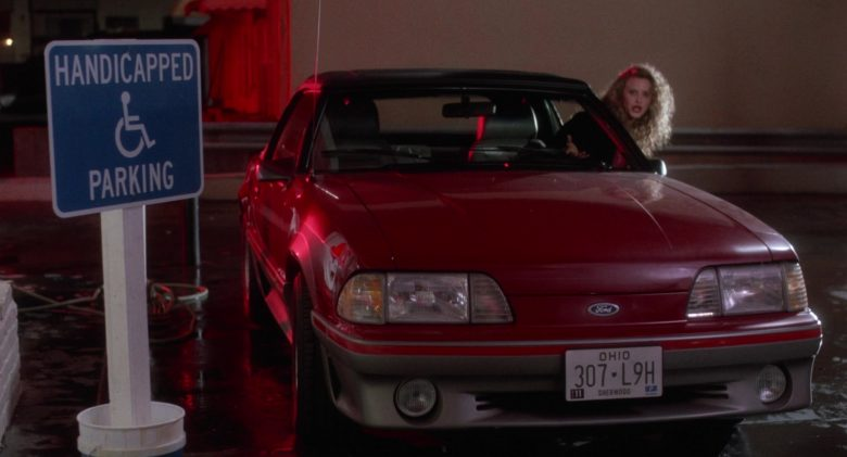 Ford Mustang Car in Heathers (1988) - Movie Product Placement