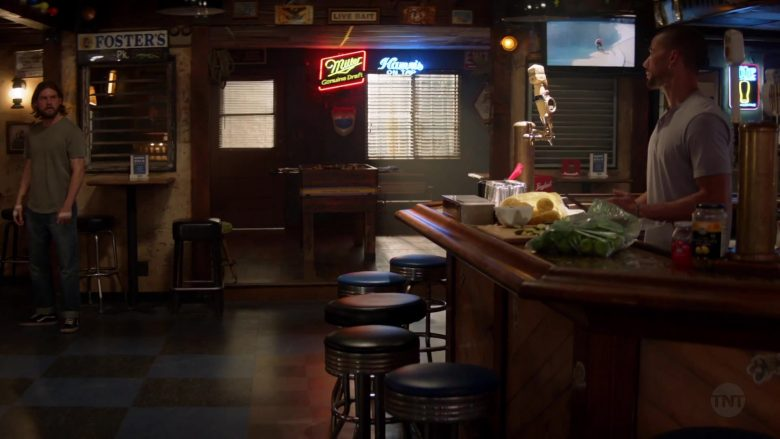 Foster's and Miller Beer Signs in Animal Kingdom - Season 4, Episode 13, Smurf (2019) TV Show