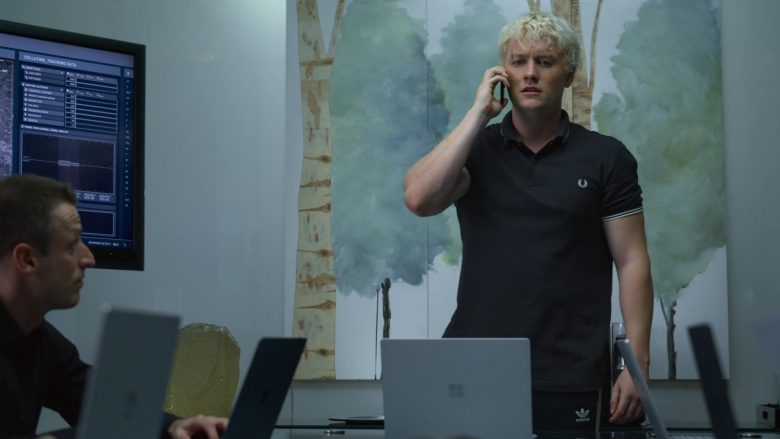 Fred Perry Shirt and Adidas Pants Worn by Jon Fletcher and Microsoft Surface Notebooks in The Rook - Season 1, Episode 8, Chapter 8 (2019) - TV Show Product Placement