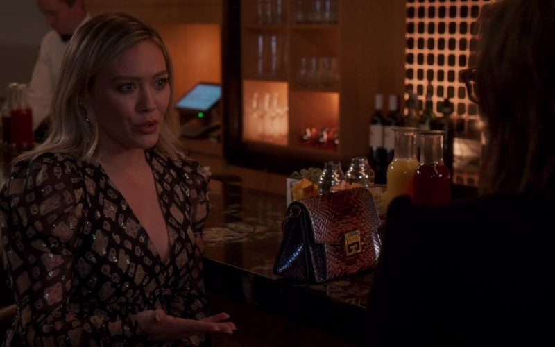 GIVENCHY GV3 Small Crocodile-Effect Leather Cross-Body Bag Used by Hilary Duff in Younger (1)