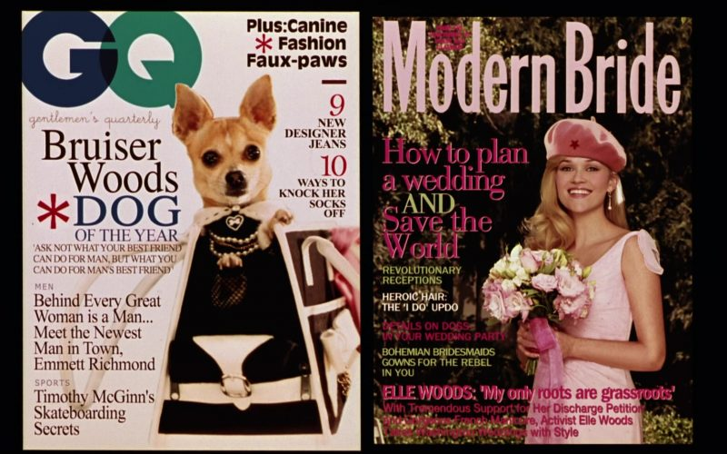 GQ and Modern Bride Magazines in Legally Blonde 2