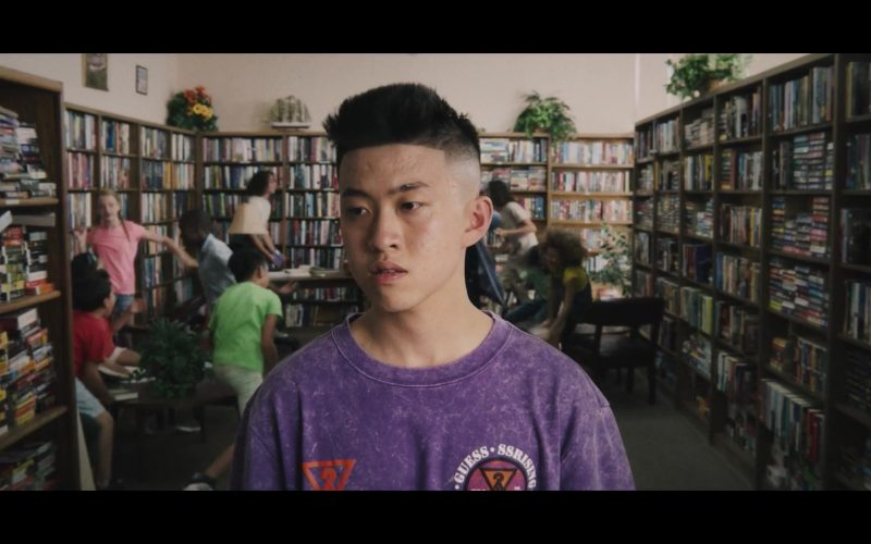 Guess Purple T-Shirt Worn by Rich Brian in 100 Degrees (1)