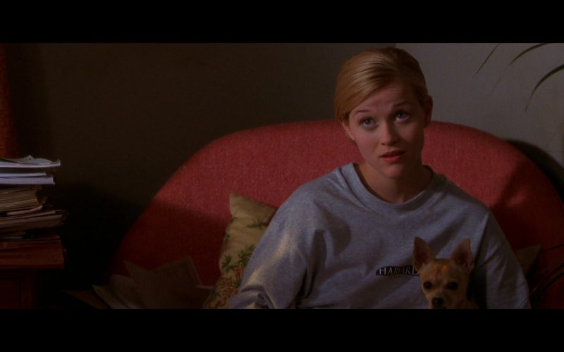 Harvard Sweatshirt Worn by Reese Witherspoon as Elle Woods in Legally Blonde (1)