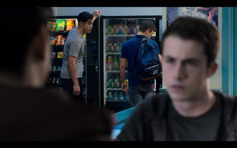 Herschel Backpack, Takis, Mountain Dew, 7Up in 13 Reasons Why