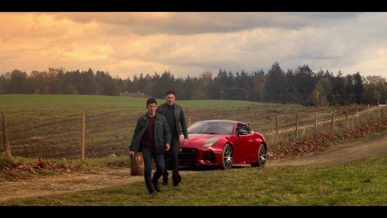 Jaguar F-Type Red Sports Car in Wu Assassins - Season 1, Episode 10, Paths Pt. 2 (2019) TV Show