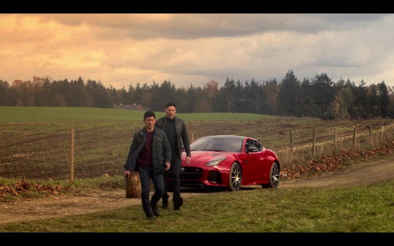 Jaguar F-Type Red Sports Car in Wu Assassins (3)