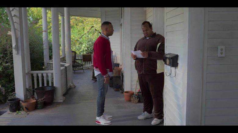Jordan Shoes and New Balance White Sneakers in Sextuplets (2019) - Movie Product Placement