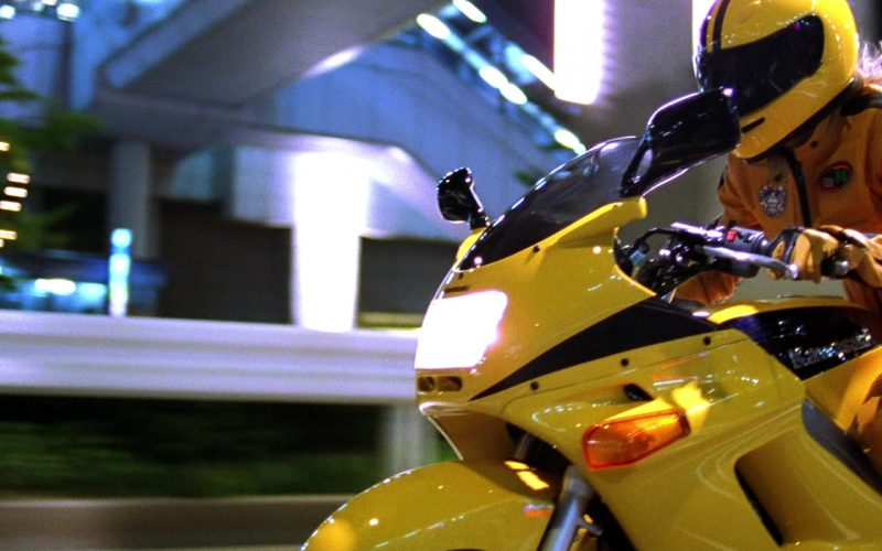 Kawasaki ZZR 250 Yellow Motorcycle Used by Uma Thurman as The Bride in Kill Bill Vol. 1 (1)