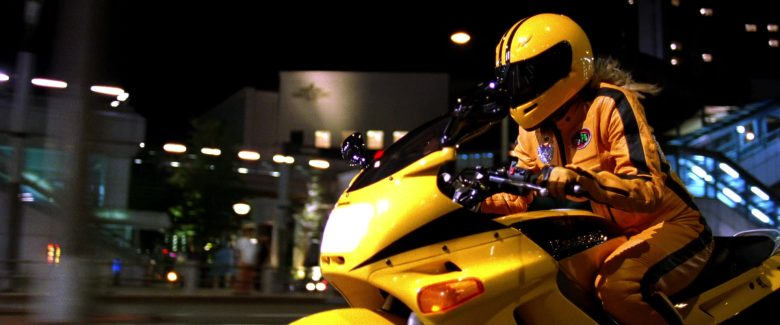 Kawasaki ZZR 250 Yellow Motorcycle Used by Uma Thurman as The Bride in Kill Bill: Vol. 1 (2003) - Movie Product Placement