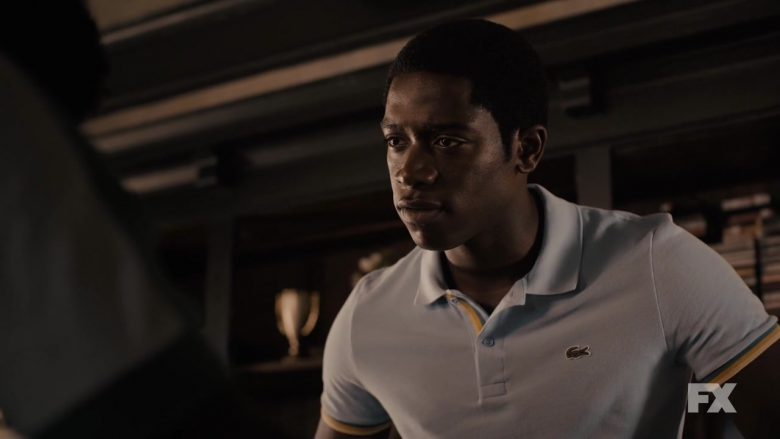 Lacoste Blue Shirt Worn by Damson Idris As Franklin Saint in Snowfall - Season 3, Episode 5, The Bottoms (2019) - TV Show Product Placement