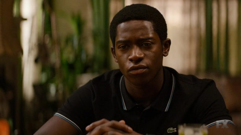 Lacoste Shirt Worn by Damson Idris in Snowfall - Season 3, Episode 7, Pocket Full of Rocks (2019) TV Show