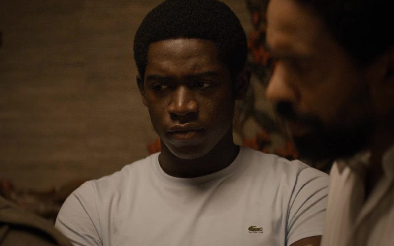 Lacoste T-Shirt Worn by Damson Idris as Franklin Saint in Snowfall (1)
