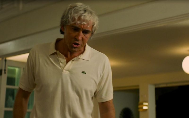 Lacoste White Polo Shirt Worn by Lee Pace in Driven (4)