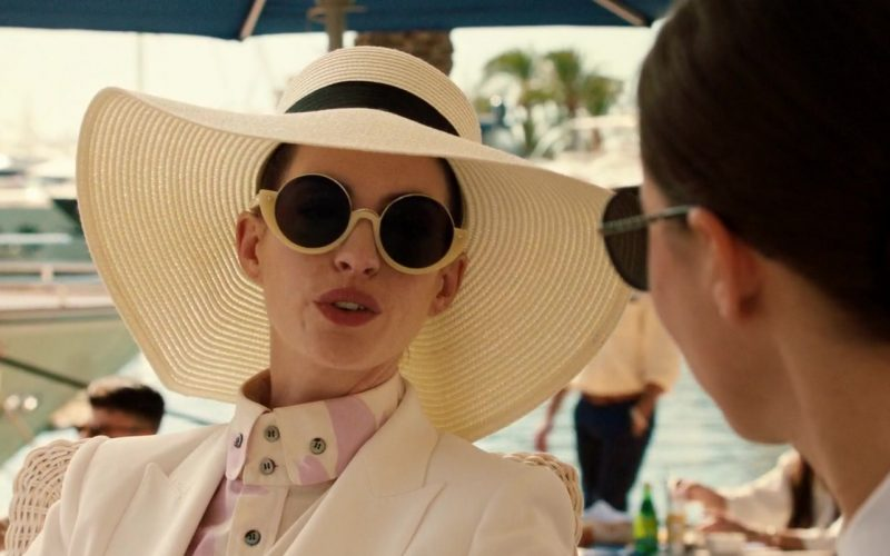 Marni Round Sunglasses Worn by Anne Hathaway in The Hustle (3)