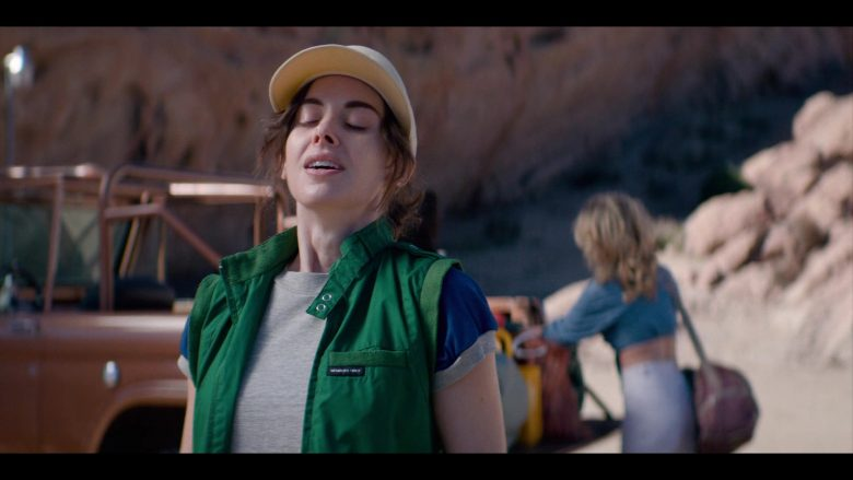 """Members Only Green Vest Worn by Alison Brie as Ruth """"Zoya the Destroya"""" Wilder in Glow - Season 3, Episode 6, """"Outward Bound"""" (2019) - TV Show Product Placement"""