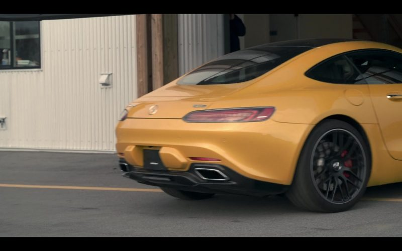 Mercedes-AMG GT Yellow Sports Car in Wu Assassins (3)