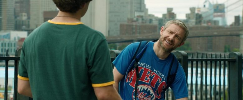 Mets Blue T-Shirt Worn by Martin Freeman in Ode to Joy (2019) - Movie Product Placement