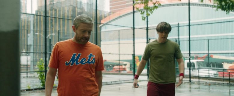 Mets Orange T-Shirt Worn by Martin Freeman in Ode to Joy (2019) - Movie Product Placement
