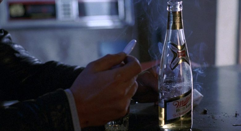 Miller High Life Beer Bottle in To Live and Die in L.A. (1985) - Movie Product Placement