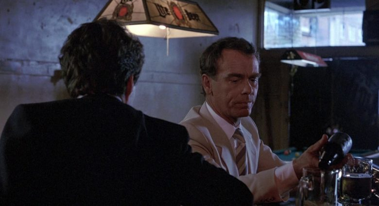 Miller Lite Beer Lamp in To Live and Die in L.A. (1985) - Movie Product Placement