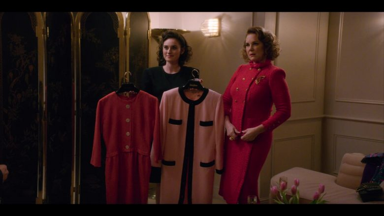 """Neiman Marcus Red & Pink Dresses in Glow - Season 3, Episode 7, """"Hollywood Homecoming"""" (2019) - TV Show Product Placement"""