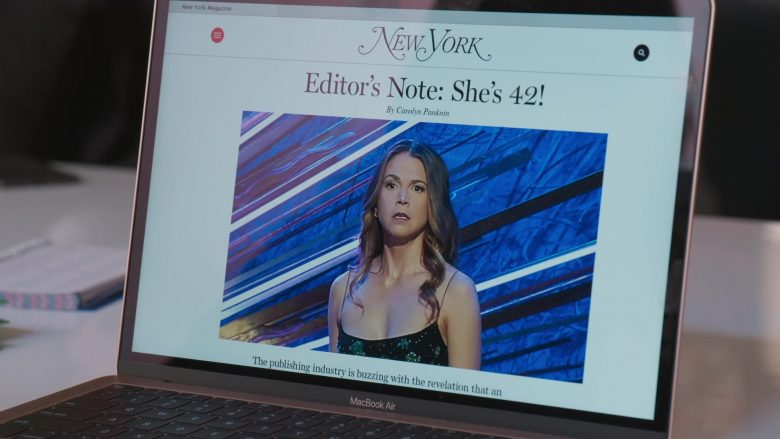 "New York Magazine & MacBook Air Laptop in Younger - Season 6, Episode 9, ""Millennial's Next Top Model"" (2019) - TV Show Product Placement"