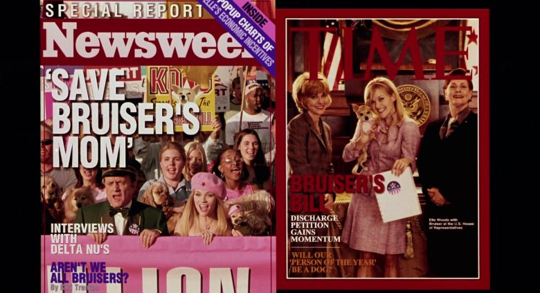 Newsweek and Time Magazines in Legally Blonde 2: Red, White & Blonde (2003) - Movie Product Placement