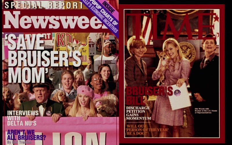 Newsweek and Time Magazines in Legally Blonde 2