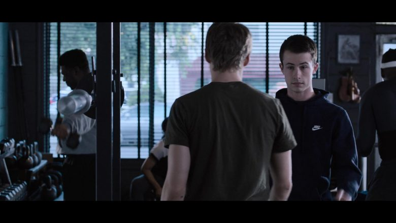 """Nike Hoodie Worn by Dylan Minnette as Clay Jensen in 13 Reasons Why - Season 3, Episode 5, """"Nobody's Clean"""" (2019) TV Show"""