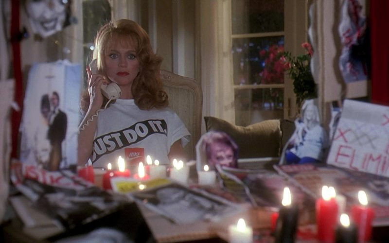 Nike Just Do It White Tee Worn by Goldie Hawn in Death Becomes Her