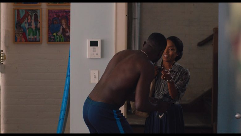 Nike Plastic Bottle Held by Sinqua Walls in Otherhood (2019) - Movie Product Placement