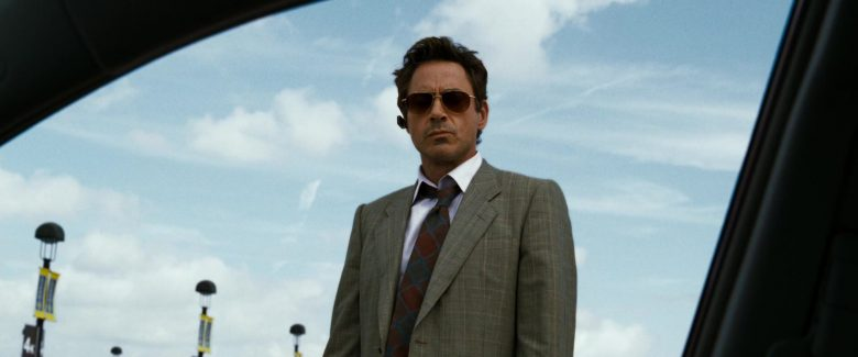 Oliver Peoples Gold Benedict Aviator Sunglasses Worn by Robert Downey, Jr in Due Date (2010) - Movie Product Placement